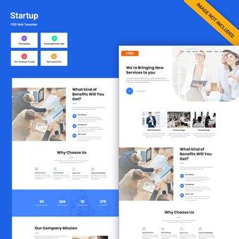 Interfejs www start-upów biznesowych