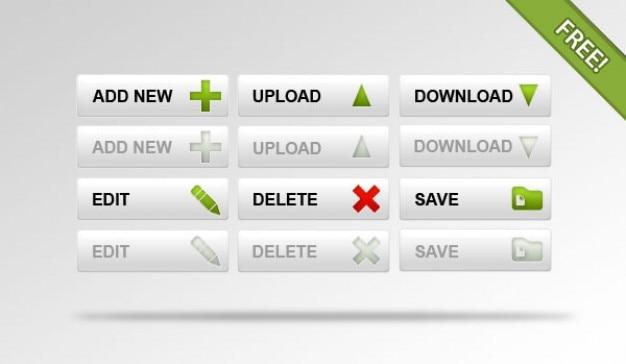 Internet przycisków psd materiał