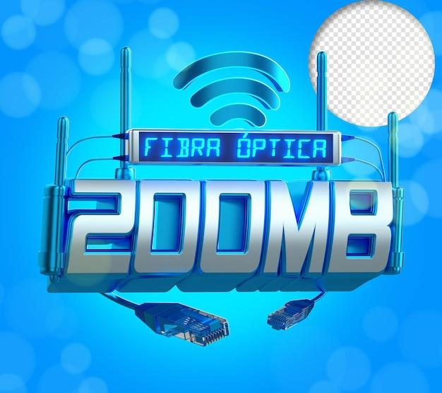 Internet światłowodowe 200 Megabytów Uszczelnienie 3d Rening Premium Psd