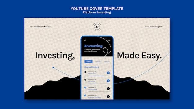 Inwestowanie W Platformę Youtube Cover Darmowe Psd