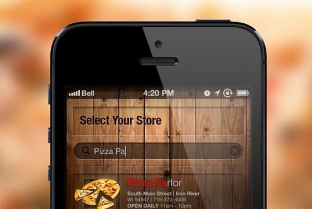 Iphone ekran wyszukiwania na niewyraźne tło