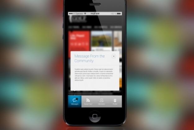 Iphone style okienko wiadomości w płaskiej konstrukcji