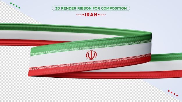 Iran 3d render wstążki do składu