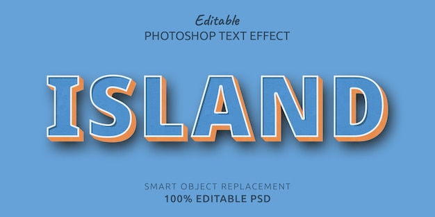Island text editable effect
