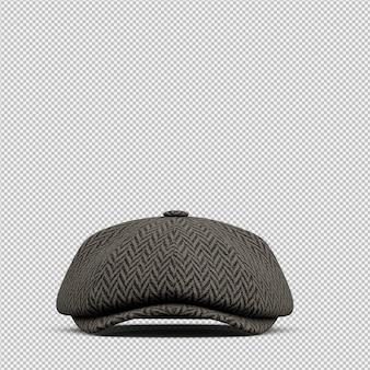 Isometric hat 3d izolowane renderowania