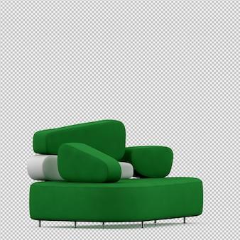 Isometric sofa 3d render
