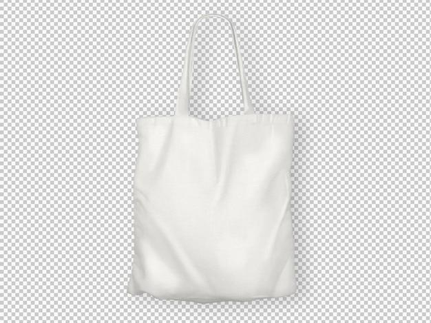 Izolowana biała torba na ramię