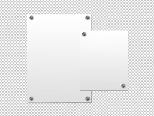 Izolowana paczka białej tablicy