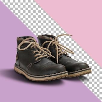 Izolowane brązowe skórzane buty