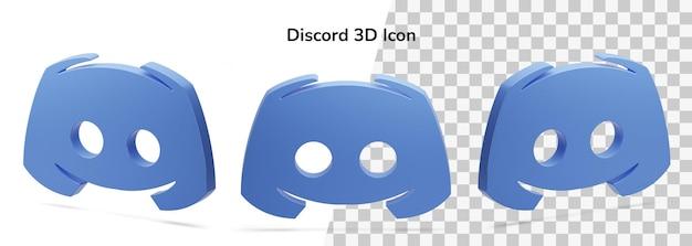 Izolowane discord logo 3d render ikony obiektu pływającego