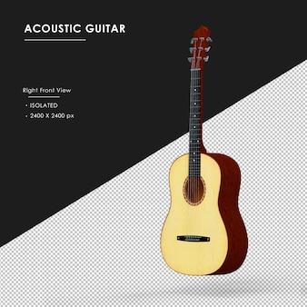 Izolowane gitara akustyczna pływające izolowane