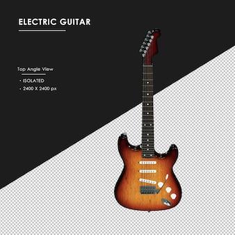 Izolowane gitara elektryczna z góry kąt widzenia
