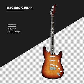 Izolowane gitara elektryczna z widoku z przodu