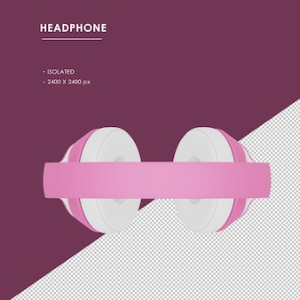 Izolowane różowe bezprzewodowe słuchawki z widoku z góry