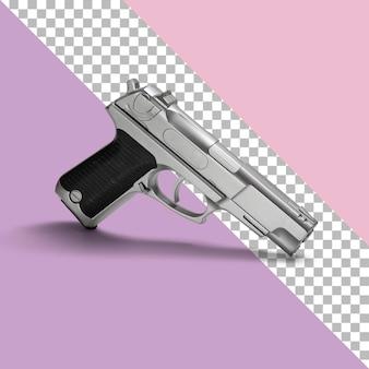 Izolowany biały srebrny pistolet pneumatyczny