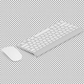 Izometryczna klawiatura i mysz
