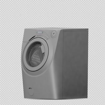 Izometryczna maszyna do prania 3d render