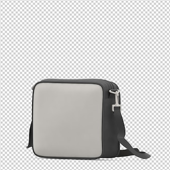 Izometryczna torba na laptopa