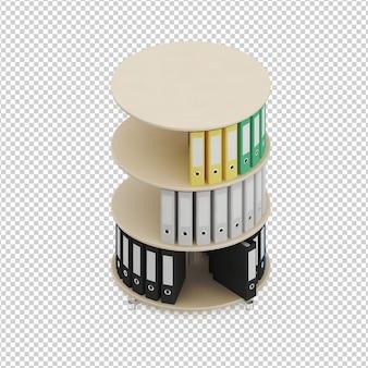 Izometryczne akcesoria biurowe
