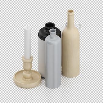 Izometryczne butelki