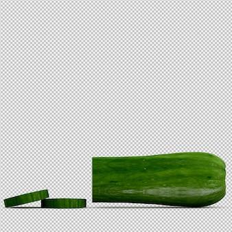 Izometryczne cukinia 3d render