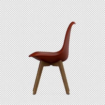 Izometryczne krzesło renderowania 3d na białym tle