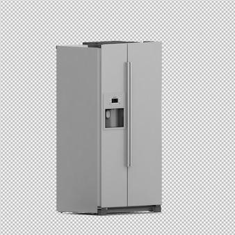 Izometryczne lodówka 3d renderowania odizolowane