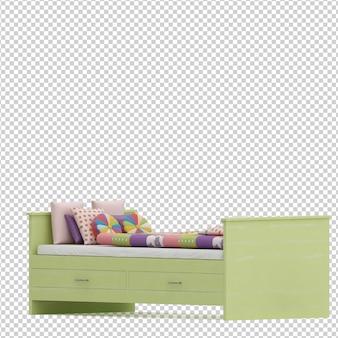 Izometryczne łóżko