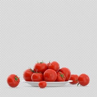 Izometryczne pomidory 3d render