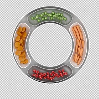 Izometryczne salat renderowania 3d