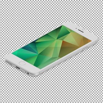 Izometryczne smartphone z efekt wielokąta