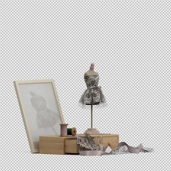 Izometryczne tkaniny 3d renderowania odizolowane