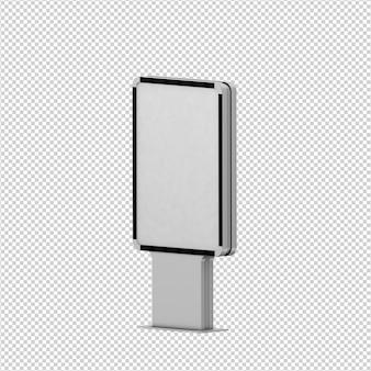 Izometryczny billboard renderowania 3d