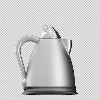 Izometryczny czajnik 3d render