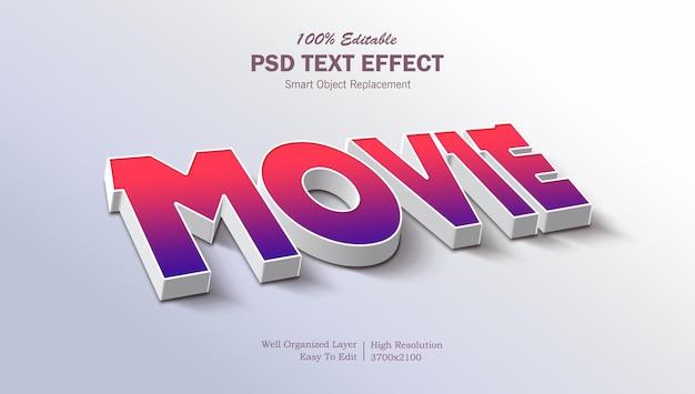 Izometryczny efekt edytowalnego tekstu 3d