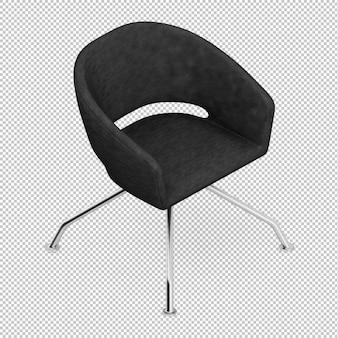 Izometryczny fotel biurowy