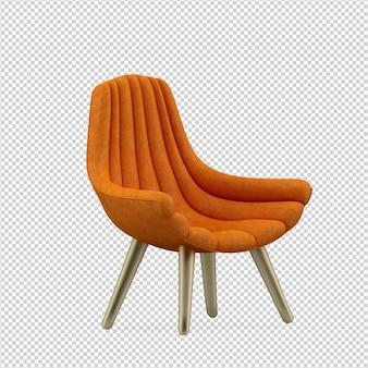 Izometryczny fotel renderowania 3d