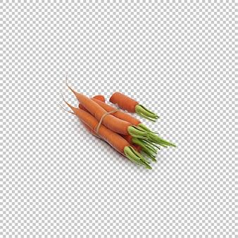 Izometryczny marchew