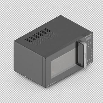Izometryczny mikrofale 3d render