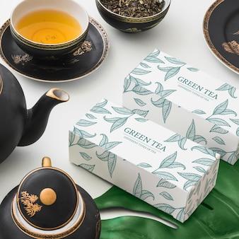 Izometryczny mockup herbaty