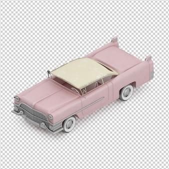 Izometryczny retro samochód