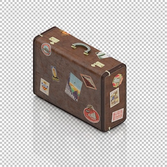 Izometryczny rocznika walizki