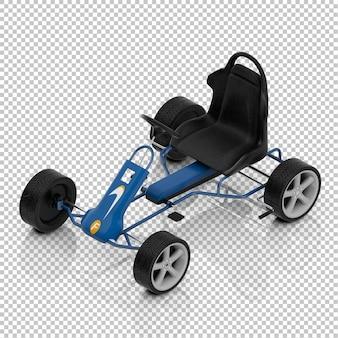 Izometryczny samochód dla dzieci