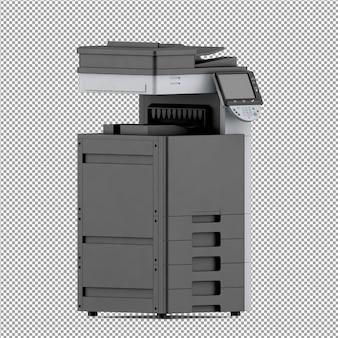 Izometryczny sprzęt biurowy 3d render