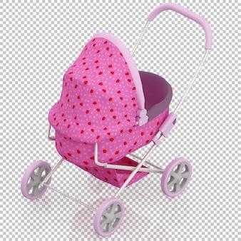 Izometryczny wózek dziecięcy