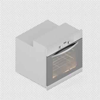 Izometryczny zakres kuchenny 3d render