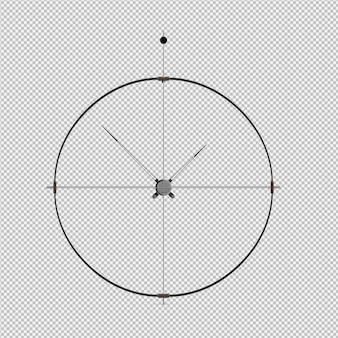 Izometryczny zegar ścienny 3d render