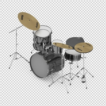 Izometryczny zestaw perkusyjny
