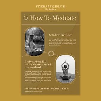 Jak medytować szablon ulotki