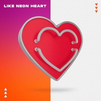 Jak neonowe serce